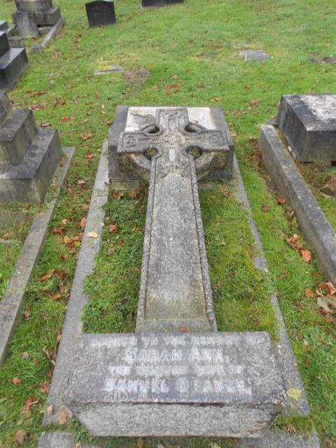 The family grave of the Orange family commemorating Herbert Samuel orange at Arnold (Redhill) Cemetery. 