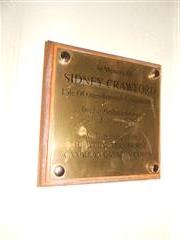 This is a memorial to Sidney Crawford and is displayed in Worksop College along side the main roll of honour. Crawford's  name was mistakenly left off the original memorial but discovered later and this plaque added. 
