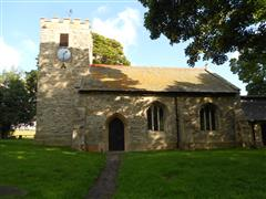 photo shows the exterior of St Oswald's Church, Ragnall. 