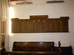photo shows the wooden memorial roll of honour within St Peters Church