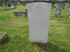Photo showing commonwealth war grave headstone marking the grave of Herbert Lawrie in Worksop (Retford Road ) Cemetery Photo taken by Peter Gillings