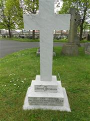 Photo showing family headstone in Worksop Cemetery commemorating the death of Thomas Henry Simpson Photo taken by Peter Gillings