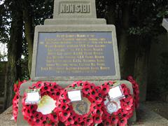 The cadet's cross memorial remembering the men of the Eastwood Ambulance Training Corps. who volunteered for the Great War.