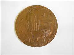 Photo shows the death plaque (dead man's penny ) of Benjamin Williams, now at Bassetlaw Museum, Retford . Courtesy of the Bassetlaw Museum.