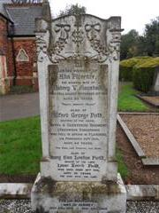 The family headstone commemorating Alfred George Field, in Stapleford cemetery, Nottingham. 
