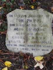 The family grave of the Phipps family commemorating George Phipps at Stapleford cemetery, 