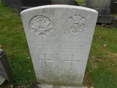 Commonwealth wargrave headstone marking the grave of George Fawcett, situated at The General Cemetery, Nottingham, Courtesy Peter Gillings