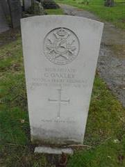 Commonwealth wargrave headstone marking the grave of Charles Oakley  situated at the General Cemetery,Nottingham. 