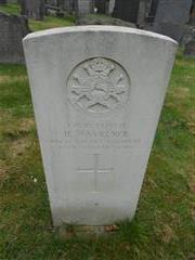 Commonwealth War Graves Commission headstone in The General Cemetery, Nottingham. Courtesy of Peter Gillings