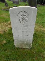 Commonwealth wargrave headstone marking the grave of Lawrence Guy  situated at the General Cemetery, Nottingham.