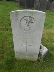 Commonwealth War Grave Commission headstone marking the grave of John Hutton, General Cemetery, Nottingham.