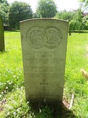 Commonwealth war grave headstone marking the grave of John Smith, situated at Basford Cemetery, 
