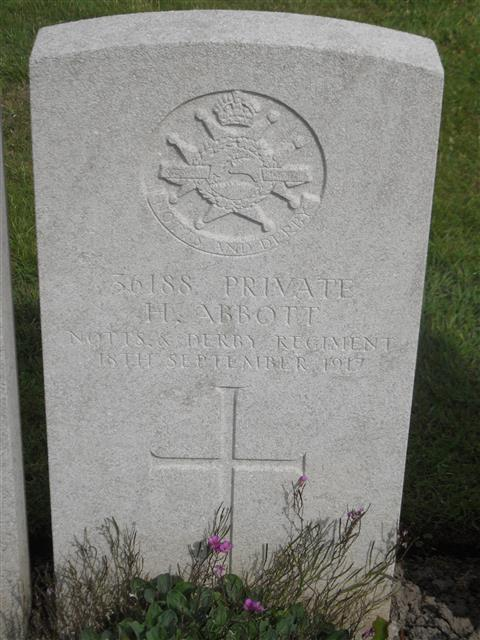 Buried in Lijssenthoek Military Cemetery.