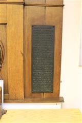 Right hand side panel of memorial plaque
