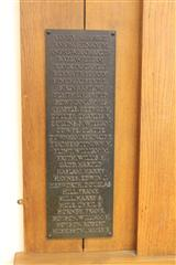 Left hand side of memorial plaque
