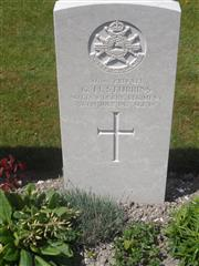 Commonwealth war grave headstone marking his grave at Philosophe British Cemetery, Mazingarbe, France.