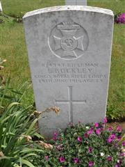 Commonwealth war grave headstone marking his grave at Berles-Au-Bois Churchyard Extension , Pas de Calais, France. Courtesy of Murray Biddle