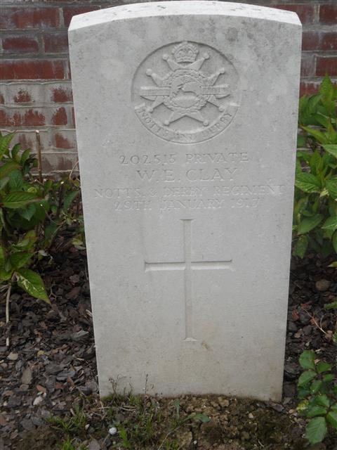 Commonwealth War Graves Commission headstone marking his grave at Couin New British Cemetery, Pas de Calais. 