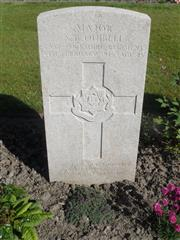 Commonwealth War Grave Commission headstone marking his grave at Lijssenthoek Military Cemetery, Belgium. Courtesy of Murray Biddle.