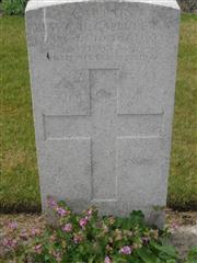 Commonwealth War Graves Commission headstone marking his grave at Brandhoek  Military cemetery, Belgium. Courtesy of Murray Biddle