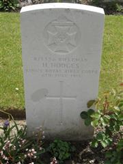 Commonwealth War Graves Commission headstone marking his grave at Bedford House Cemetery , Belgium. Courtesy of Murray Biddle