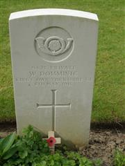 Commonwealth War Graves Commission headstone marking his grave at Sanctuary Wood Cemetery Belgium. Courtesy of Murray Biddle