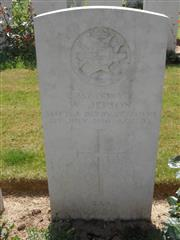 Commonwealth war grave headstone marking his grave at Serre Road Cemetery No 2 