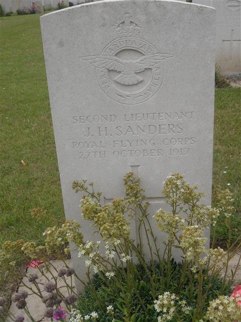 Commonwealth War Grave Commission headstone at Tincourt New British Cemetery, Somme.  Photograph courtesy of Murray Biddle