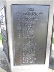 Close up of panel showing the names of the fallen 1916 & 1917 Photo taken by Peter Gillings
