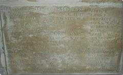 Jackson commemorated on the memorial at Pozieres
