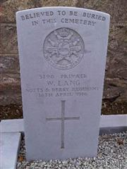 Commonwealth War Graves Commission headstone, Deansgate Cemetery, Dublin.