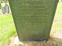 Family grave and headstone, Mansfield (Nottingham Road) Cemetery. Photograph Peter Gillings.
