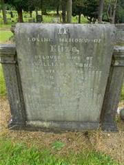 The family headstone, commemorating Walter Stone in the Nottingham Road, Cemetery Mansfield. 