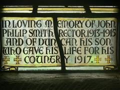 Memorial in Hockerton St Nicholas (inscription).  Photograph Rachel Farrand (November 2011).