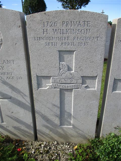 Buried in Bray Military Cemetery.