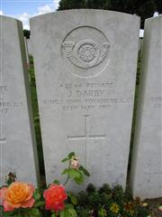 Buried in Achiet-le-Grand Communal Cemetery Extension.