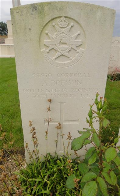 Grave visited at Hem Farm Military Cemetery on 14th July 2016.