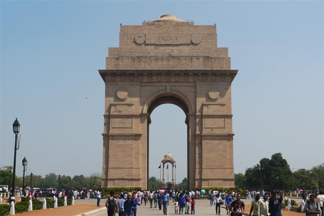 Delhi Memorial (India Gate)  designed by Sir Edward Lutyens and unveiled in 1931. 'Of the 13,300 Commonwealth servicemen commemorated by name on the memorial, just over 1,000 lie in cemeteries to the west of the River Indus, where maintenance was not possible. The remainder died in fighting on or beyond the North West Frontier and during the Third Afghan War, and have no known grave. The Delhi Memorial also acts as a national memorial to all the 70,000 soldiers of undivided India who died during the years 1914-1921, the majority of whom are commemorated by name outside the confines of India.' (CWGC  Debt of Honour Register)