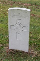 Headstone in Nottingham Road Cemetery, Mansfield.