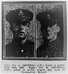 Photograph of Arthur and his brother William was published on 11th September 1917 in the Nottingham Evening Post and is courtesy of Jim Grundy and his facebook pages Small Town Great War Hucknall 19114-1918