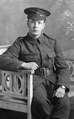 George Cook in uniform, photograph is courtesy of Keith Cook