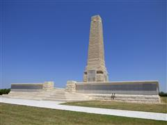 The Helles Memorial, Gallipoli, Turkey upon which the names of George Levick Brett is commemorated, photograph is courtesy of Jim Grundy and his facebook pages Small Town Great War Hucknall 1914-1918