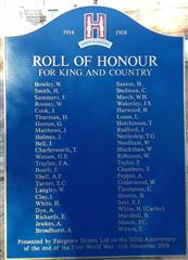 This plaque, bearing the names of Hardy Hanson employees who served during the Great War, has been donated by Fairgrove Homes Ltd and will be mounted within the re-developed Kimberley Brewery site.