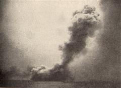 The destruction of HMS Queen Mary.