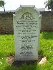 The family headstone of the Walker family at Basford cemetery commemorating the death of Sapper Harry Walker 