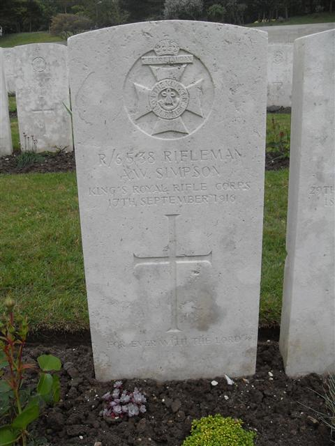 Buried at Etaples Military Cemetery