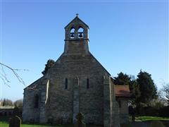 Showing St Helena's Church at Austerfield 