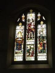 (WMA38817) Stained glass window in Mansfield Road Baptist Church, Hyson Green, Nottingham.  Photograph Rachel Farrand