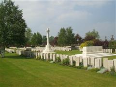Photo shows Bethune Town communal town cemetery where John William Humberstone is buried, photo courtesy of CWGC