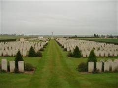 Photo shows Mount huon Military Cemetery, Le Treport, France where Ernest Hird is buried, photo courtesy of CWGC